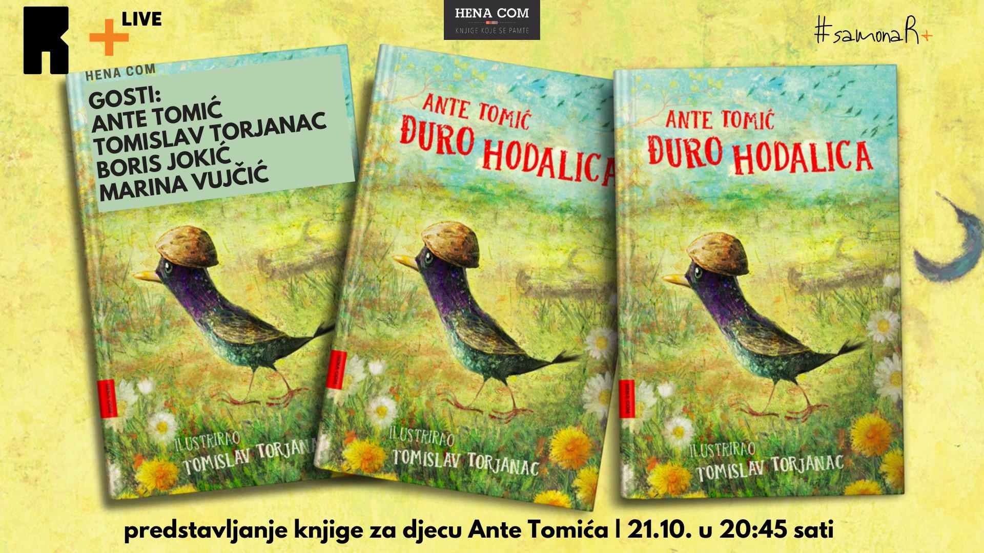 "R+LIVE: O knjizi ""?uro Hodalica"" s Antom Tomi?em, Tomislavom Torjancem, Borisom Joki?em i Marinom Vuj?i?"