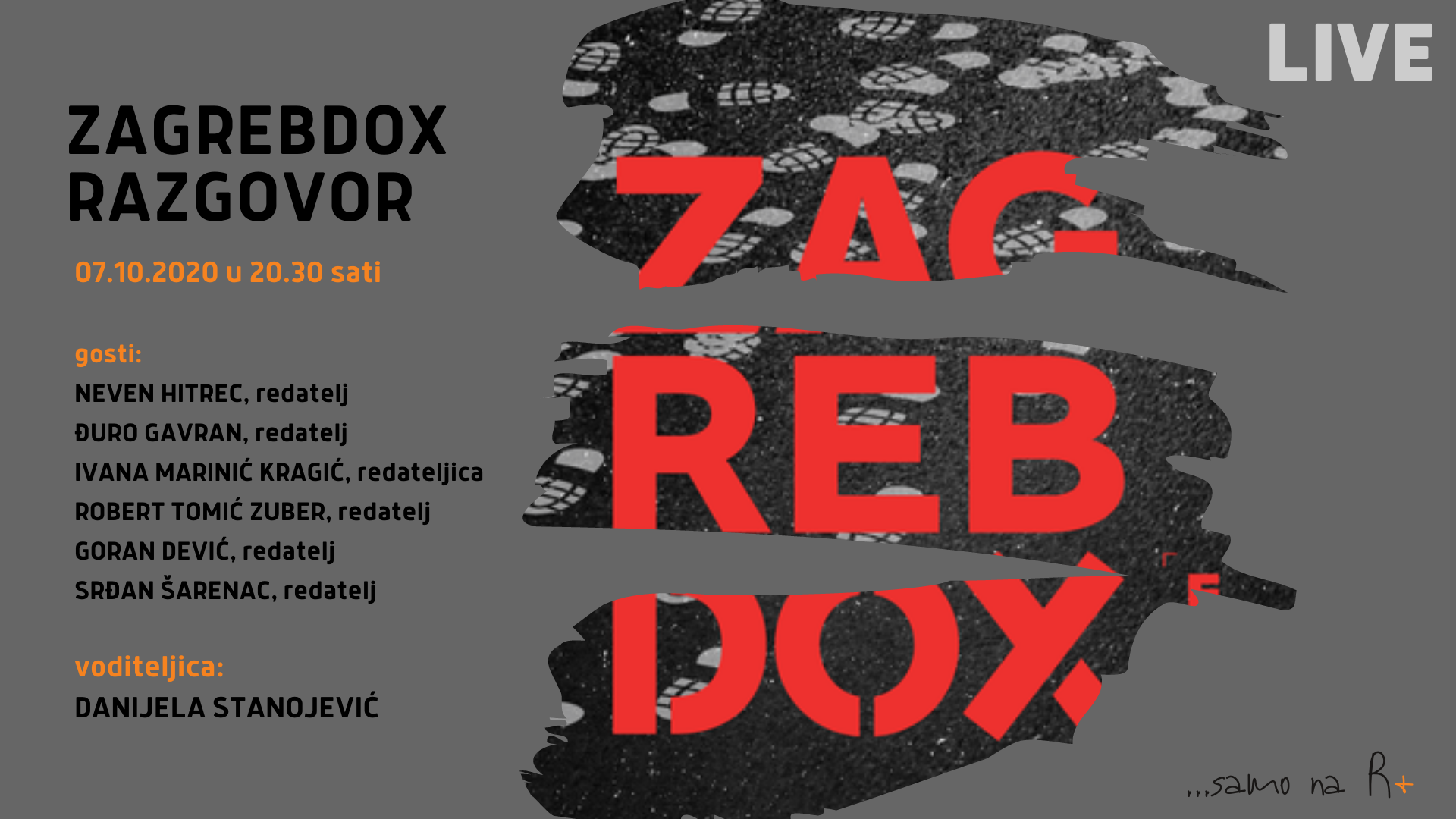 R+: ZagrebDox Special Edition razgovor - hrvatski autori