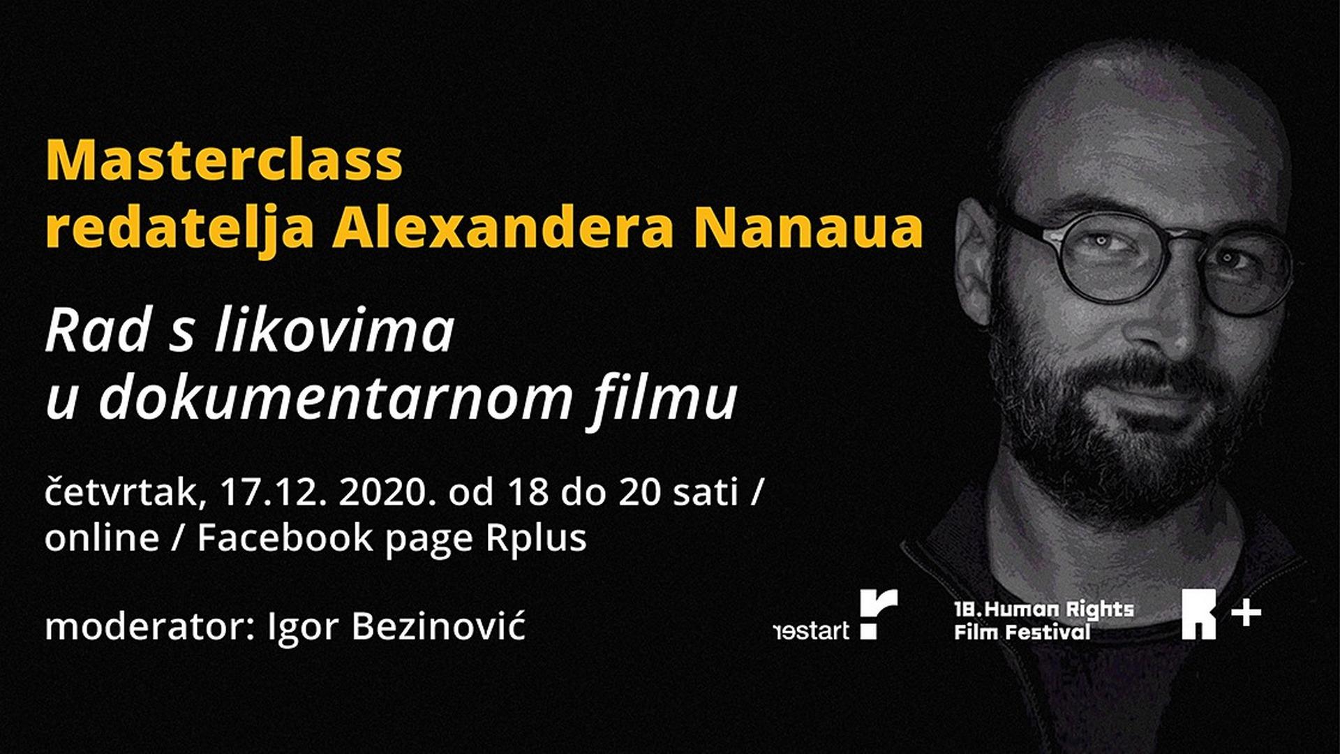 Masterclass redatelja Alexandera Nanaua   Restart & Human Rights Film Festival