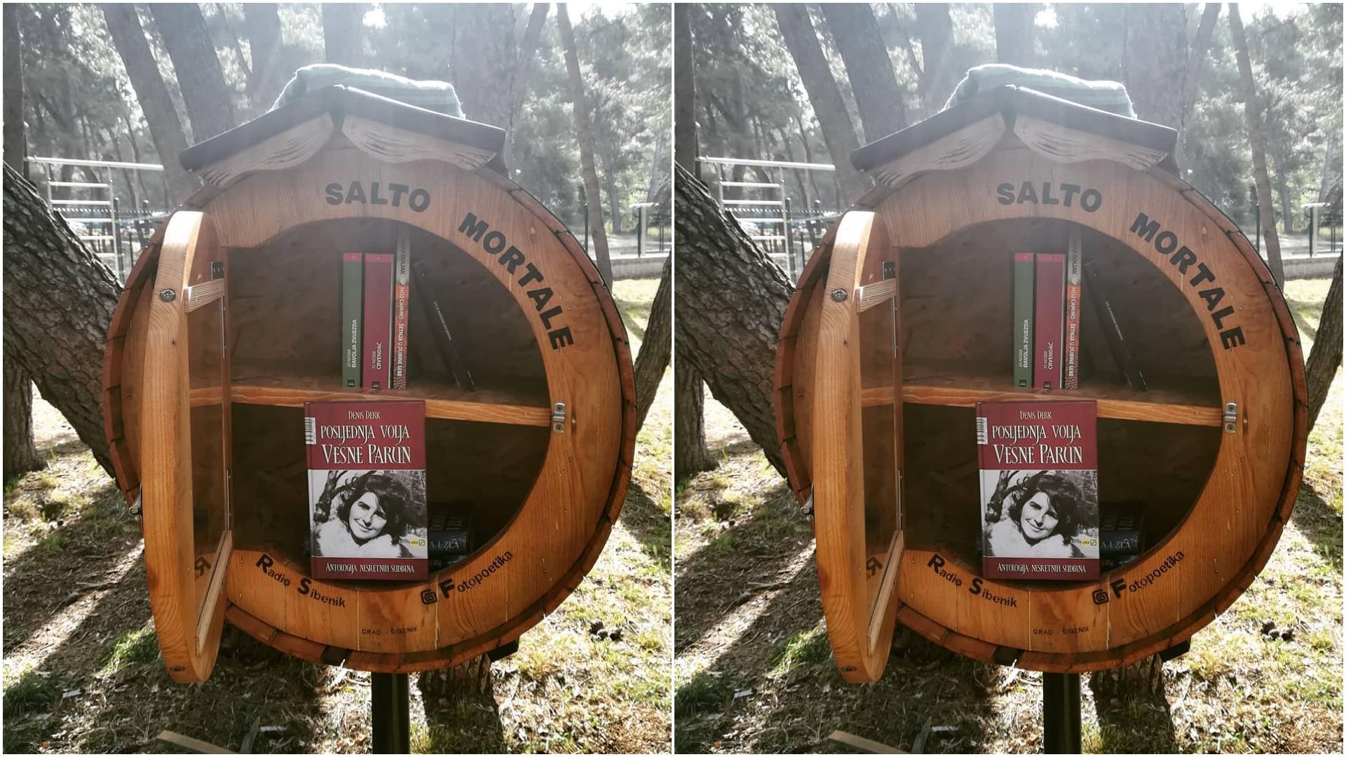 Mala knjižnica na otvorenome posvećena Vesni Parun | Šibenik
