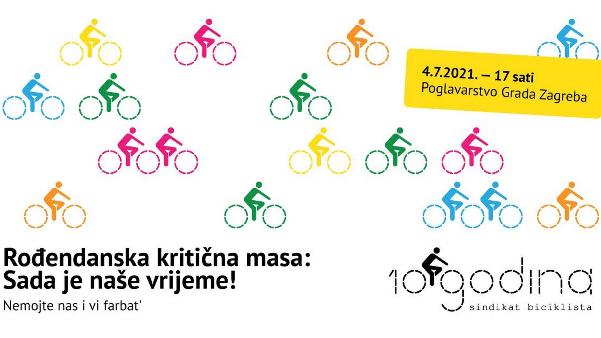 Rođendanska kritična masa: SADA je naše vrijeme! | Sindikat biciklista