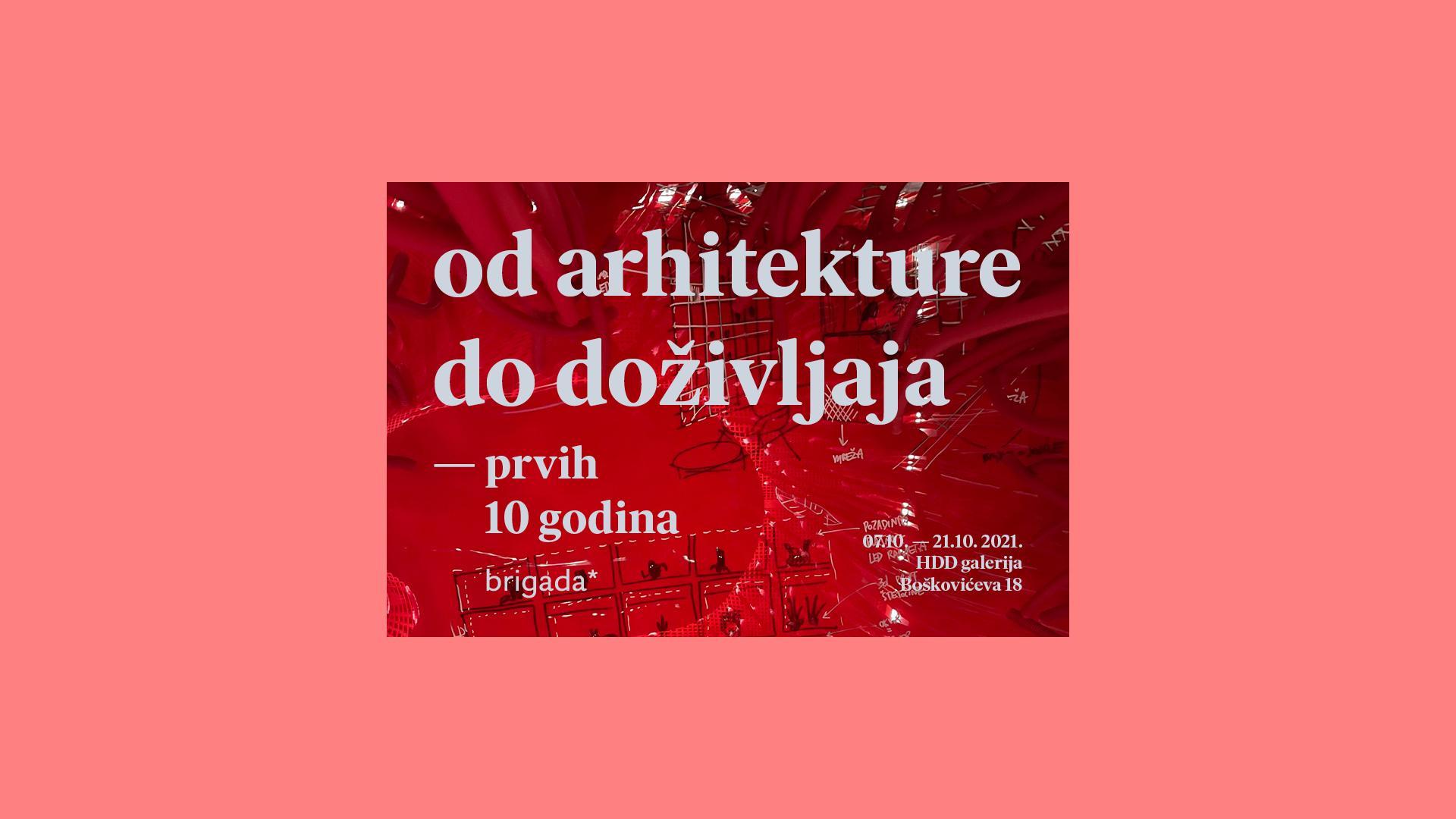 "Izložba ""Brigada: od arhitekture do doživljaja"" | HDD galerija"